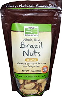 NOW Foods Brazil Nuts, Raw, 12-Ounce Bag (Pack of 2)