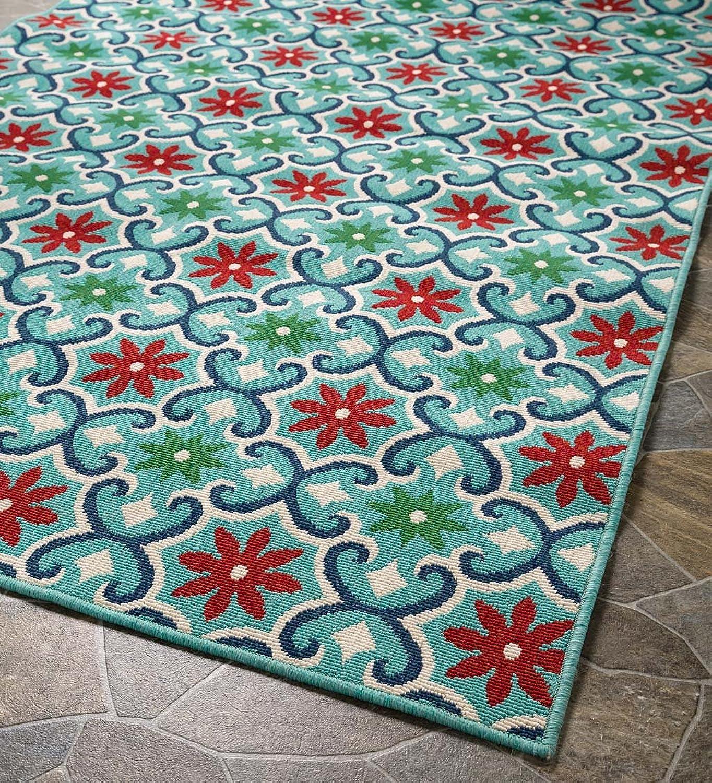 Indoor Outdoor Lexington Floral Rug, 3'7 x 5'6