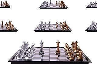 【七星堂オリジナル】人気No1 大判スタイリッシュチェス 専用クロス付き ポータブルボードゲーム