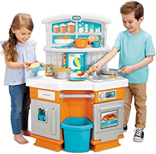 Little Tikes Home Grown Kitchen - Role Play Realistic Kitchen Real Cooking & Water Boiling Sounds Kitchen Accessories Set ...