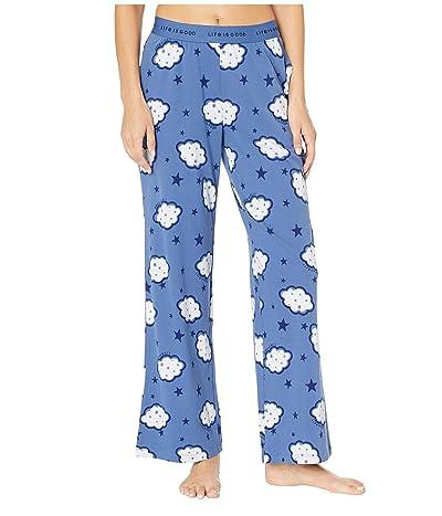 Life is Good Snuggle Up Sleep Pants (Vintage Blue) Women