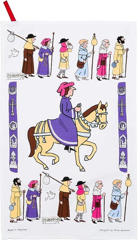 Alison Gardiner Famous Illustrator Pilgrims Christian Procession 100 Cotton Tea Towel Dish Cloth Made In England Premium Quality And Detail