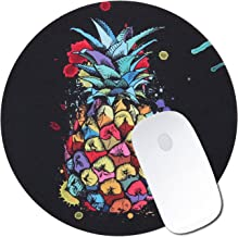Mouse Pad, Asstar Gaming Mouse Pad Round Mousepad Mouse Mat Durable Silicone Non-Slip Mouse Pads for Computers Laptop, Game Gaming, Home, Office & Travel (Pineapple 5)