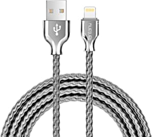 Lightning Cable,[MFi Certified]Fantany Durable Metal USB Lightning Charging Cable for iPhone 12,12 Mini,12 Pro,12 Pro Max,11,11 Pro,11 Pro Max,SE,iPad Mini,iPad Air,iPod Touch (3.3ft, Silver)