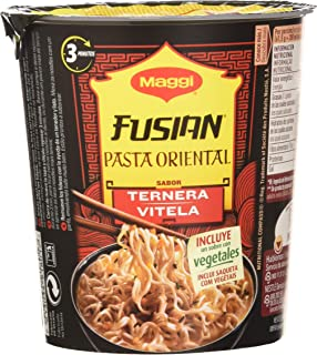 comprar comparacion Maggi Fusian Pasta Oriental Noodles Sabor Ternera - Fideos Orientales, Pack of 8 x 61.5g, Total: 492 gr