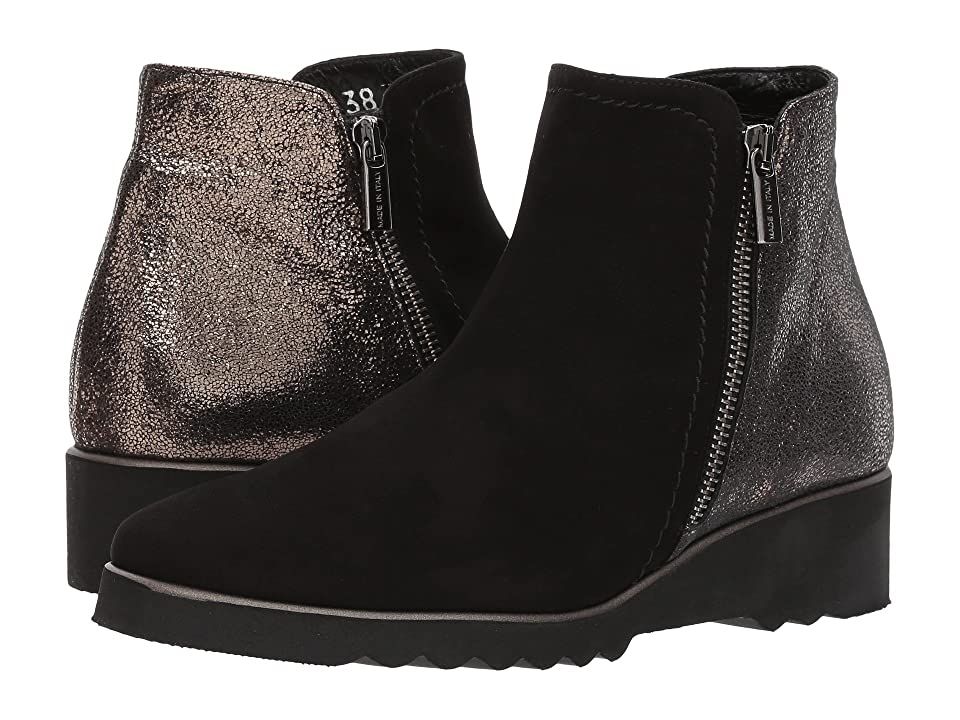 Cordani Addie (Black Suede/Pewter) Women