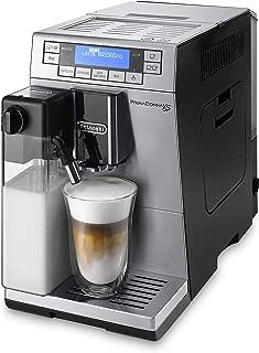 De'Longhi PrimaDonna XS Deluxe ETAM 36.365.MB - Cafetera Superautomática, 1450 W, 15 Bar Presión, Muy Estrecha 19.5 Cm, Pantalla Digital, Personalización Cafés, Plateada