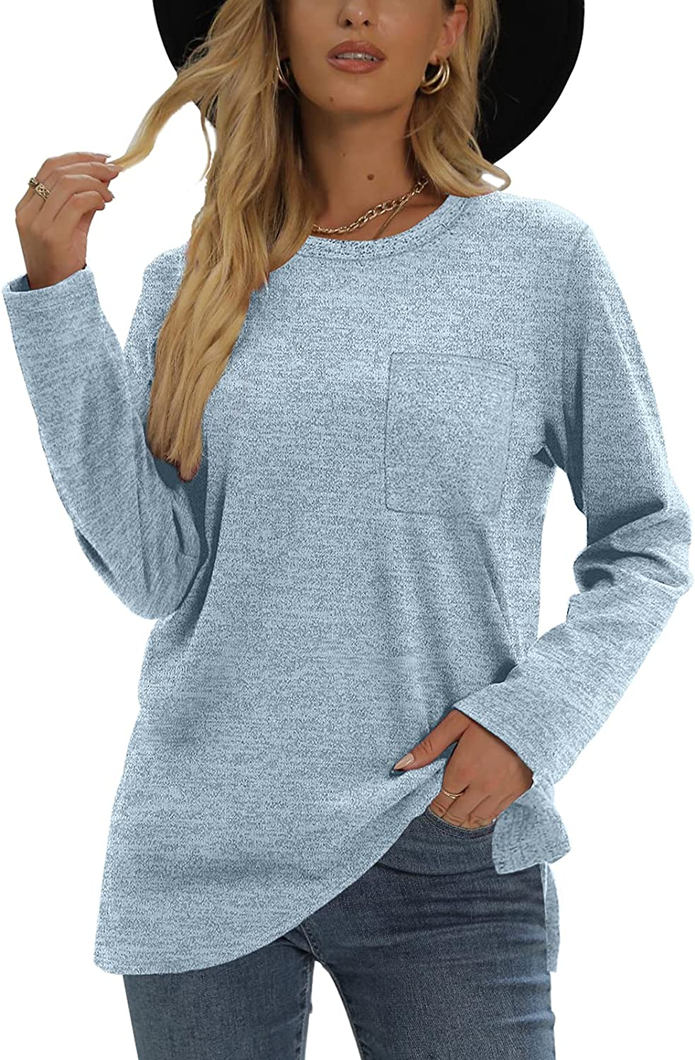 XIEERDUO Colorado Springs Mall Long Sleeve Shirts Japan's largest assortment for Loose Women with Fit Sweatshirts