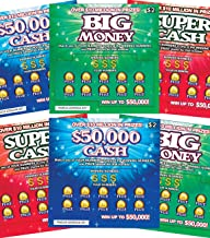 FMPLT- Fake Joke Prank Lottery Tickets Scratch Off - All Win $25,000 to $50,000 - The Ultimate Prank (Multi-Pack A)
