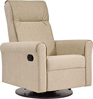 Dutailier Nolita 0524 Upholstered Glider-Recline, Swivel with Built-in Footrest