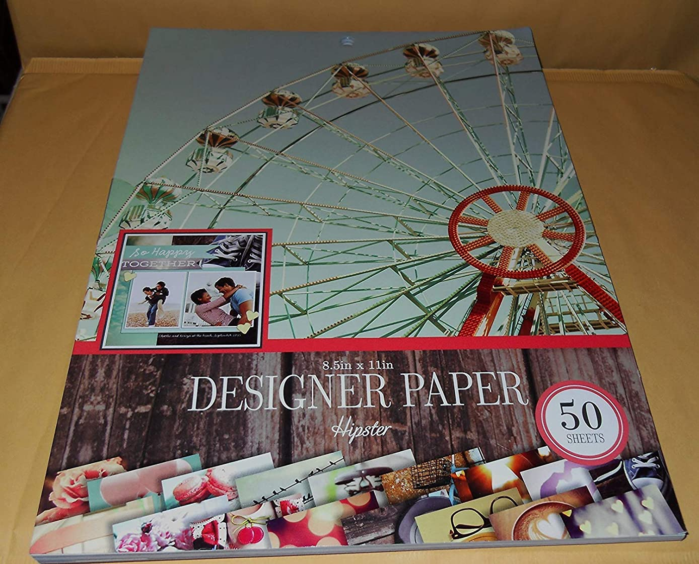 Colorbok Designer Paper - Hipster - 8 1/2 inches x 11 inches; 50 Sheets
