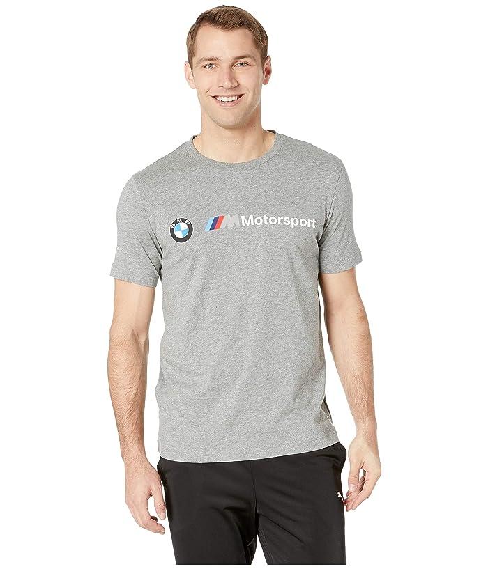 PUMA BMW MMS Logo Tee (Medium Grey Heather) Men