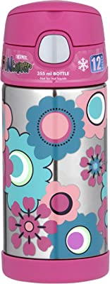 355ml FUNtainer Vacuum Insulated Drink Bottle - Flower