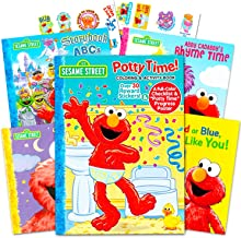 Sesame Street Elmo Potty Training Book Set --  Potty Coloring and Activity Book with Chart, Reward Stickers and Checklist ...
