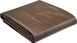 AmazonCommercial Multi Purpose Waterproof Poly Tarp Cover, 10 X 20 FT, 10MIL Thick, Brown/Silver, 3-Pack