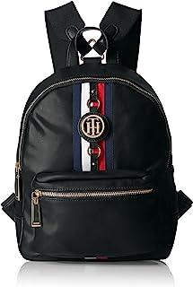 Backpack Jaden, Black Polyvinyl Chloride