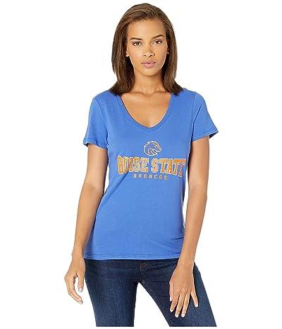 Champion College Boise State Broncos University V-Neck Tee (Royal) Women