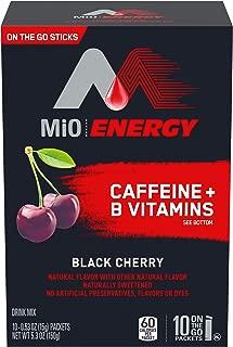 MIO Energy On-The-Go Powdered Drink Mix, Black Cherry, 5.2 oz