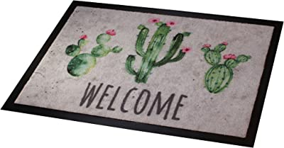 Carpido Cactus Doormat 100% Polyamide Multi-Coloured 40 x 60 cm