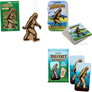 Bigfoot Deluxe Air Freshener, Bandages, Playing Cards Bundle, (3 Bigfoot Items)