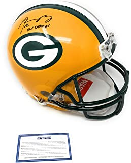 Aaron Rodgers Green Bay Packers Signed Autograph Full Size Proline Authentic Helmet XLV CHAMPS INSCRIBED Steiner Sports Certified