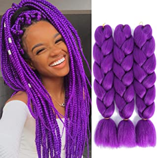SuCoo Kanekalon Braiding Hair Extensions High Temperature Synthetic Fiber Jumbo Braiding..