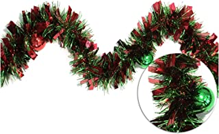 Brite Star 9ft Tinsel with Shatterproof, red/Green