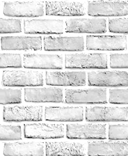 Best white exposed brick wallpaper Reviews