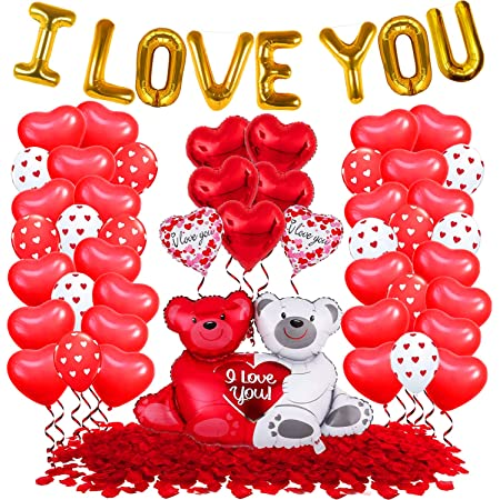 Wedding Balloons with Red LED String Lights BoBo Balloon for Valentines Day Decoration Wedding Christmas Birthday and Party Inflate to 20 Balloon with 10ft 30 LED String Lights 6pack