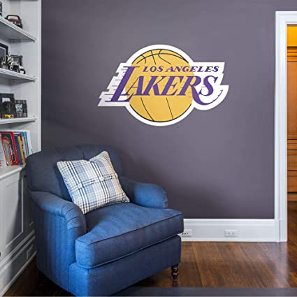 Amazon Com Fathead Los Angeles Lakers Logo Officially Licensed Nba Removable Wall Decal Sports Fan Wall Banners Sports Outdoors