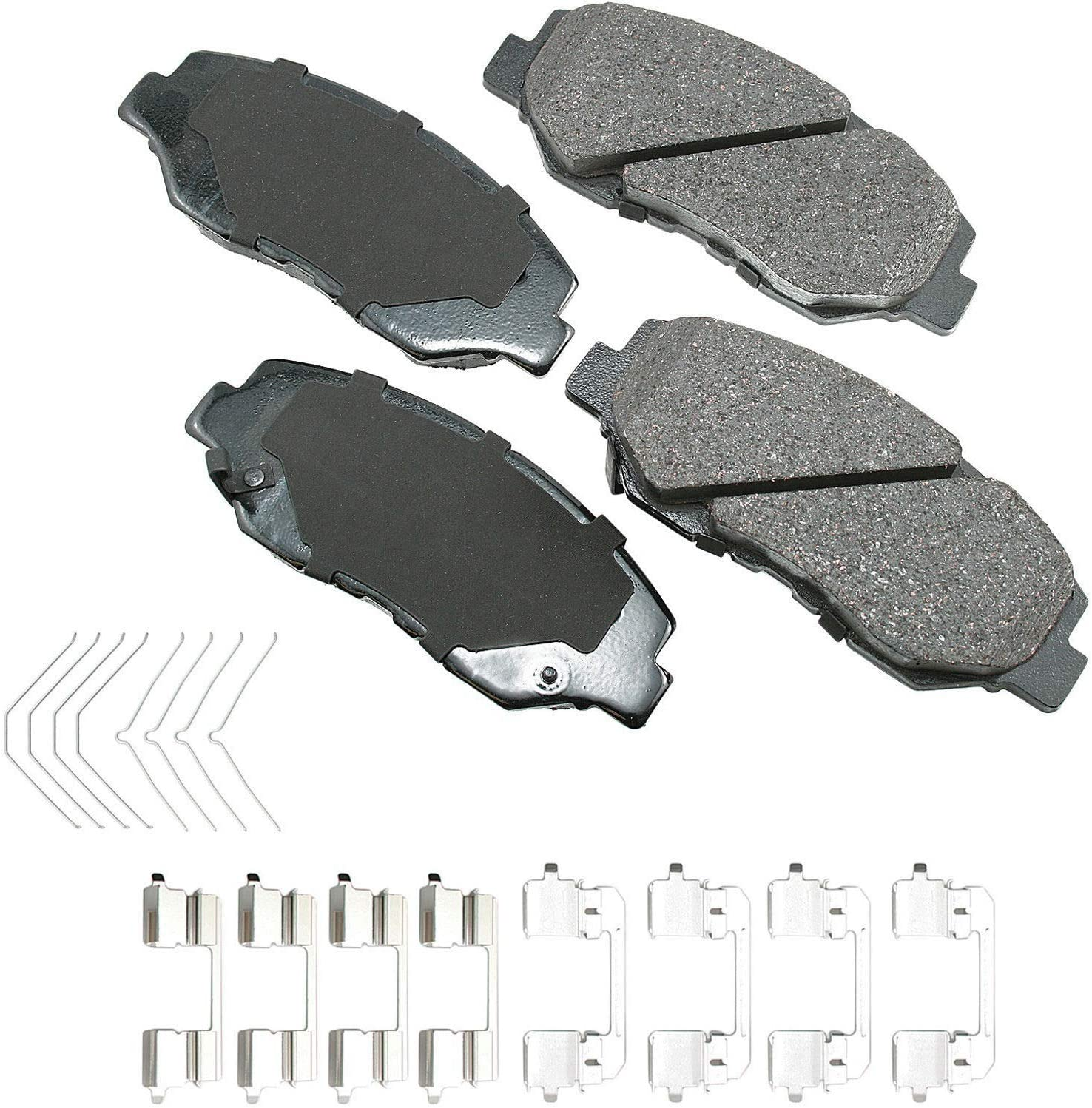 Akebono ACT914A Now free shipping Ultra-Premium Ceramic Front Disc Brake Max 48% OFF Pads GRE