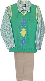 Good Lad Green Argyle Sweater Vest Set