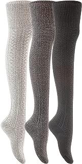 Big Girl's 3 Pairs Fashion Thigh High Cotton Socks Over the Knee High Leg Wamers A2JMYP1025 Size L/XL(US)