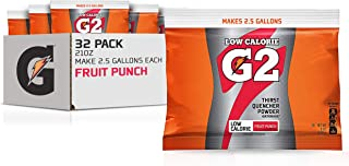 Gatorade Powder Bag Fruit Punch, 21 Ounce (Pack of 32)