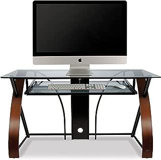 Bell'O Computer Desk with Keyboard Tray, Espresso/Black