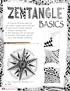 Zentangle Basics: A Creative Art form Where All You Need Is Paper Pencil & Pen (Design Originals) 25 Basic Tangles Step-by-Step; Turn Drawings into Art Designs, Improve Focus, & Develop Dexterity