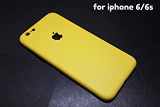 INDEZIRE® Anti Slip Ultra Thin Plastic Phone Case Mobile Back Cover for i-Phone 6 6S (Yellow)