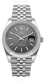 Datejust Mechanical (Automatic) Rhodium Dial Mens Watch 126300 (Certified Pre-Owned)