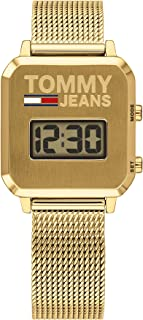 Tommy Hilfiger Gold Dial Ionic Thin Gold Plated Stainless Steel Watch For Women