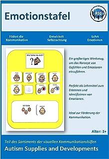 Autism Supplies /& Developments DE/_EB Visuelle Emotionsplatte aus Kunststoff blau