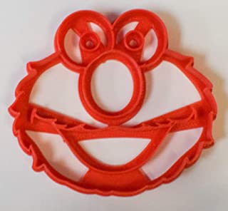 SESAME STREET ELMO COOKIE MONSTER BIG BIRD CHARACTERS SET OF 3 SPECIAL OCCASION COOKIE CUTTERS FONDANT BAKING TOOL 3D PRINTED USA PR1005