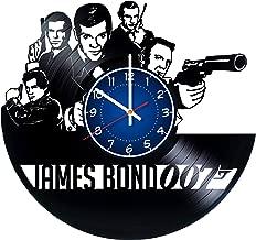 JAMES BOND Art 12 inches / 30 cm Vinyl Record Wall Clock | JAMES BOND Fan Gift | 007 AGENT Clock | SPY Children's Room Decor Idea | Home Art Party JAMES BOND Movie art | CHRISTMAS MY NAME IS BOND