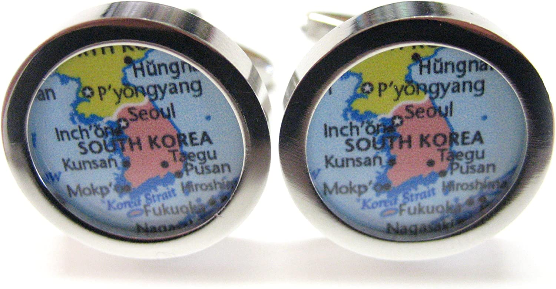 South Korea Map Cufflinks