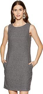 U S POLO Womens_US Polo_DR(8903952905183_UWDR0058_Round Neck Sleeveless Dress_S) Grey
