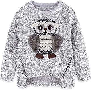 Cute Owl Sweater for Teen Girls Kids Little Big Girls Pullover