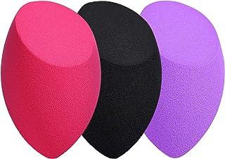 Makeup Sponges, Larbois 3-Pack Blender Beauty Foundation Blending Sponge, Professional Beauty Makeup Set for Dry & Wet Use (Oblique, Red+Black+Purple)