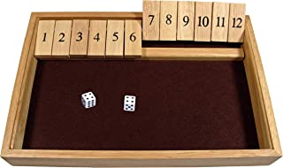 WE Games Deluxe Shut The Box - Wooden Board Game with Dice for The Classroom, Home or Pub - 14 in.