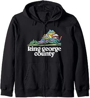 King George County Virginia Outdoors & Nature Lover Zip Hoodie