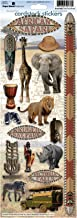Paper House Productions STCX-0081E Cardstock Stickers, African Safari