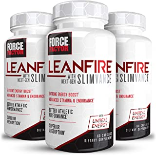 Force Factor LeanFire with NextGen SLIMVANCE Advanced Energy Pills with B Vitamins and Capsimax to Increase Energy/Enhance...